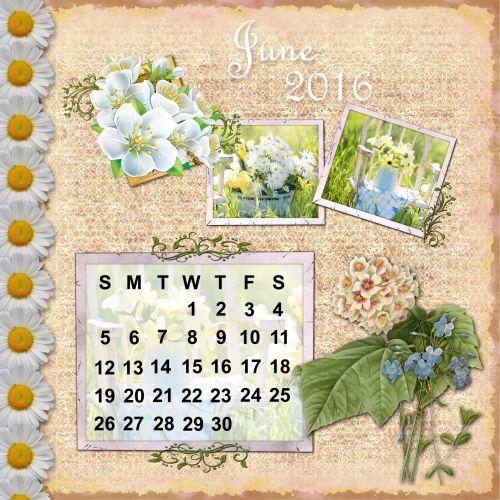 2016 Calendar June