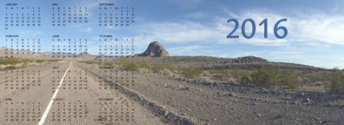 2016 Desert Highway Calendar