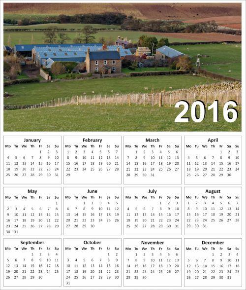 2016 Farm Calendar
