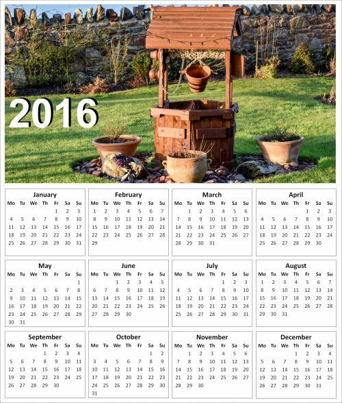 2016 Garden Calendar