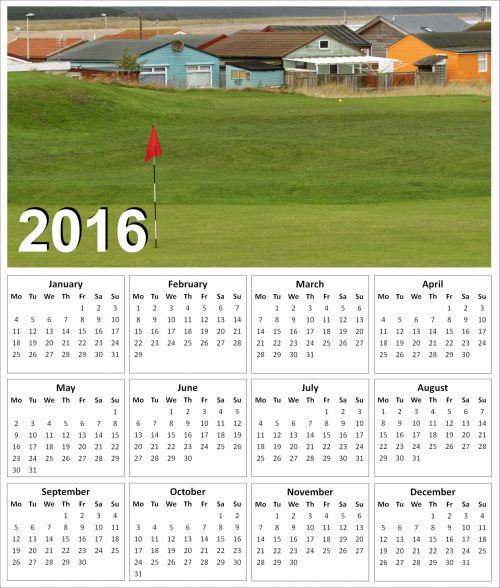 2016 Golf Calendar 3