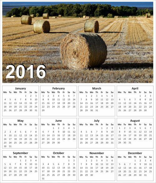 2016 Hay Calendar