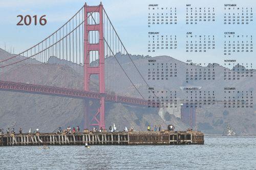2016 San Francisco Bridge Calendar