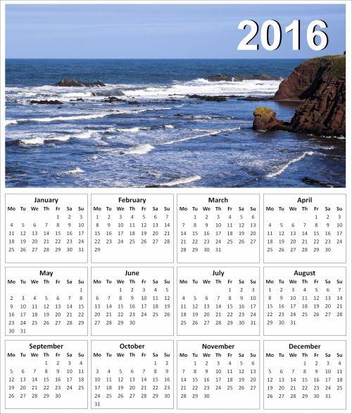 2016 Seascape Calendar 1