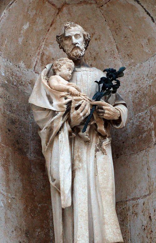 St Joseph And Little Jesus