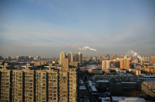 Moon-set In Beijing