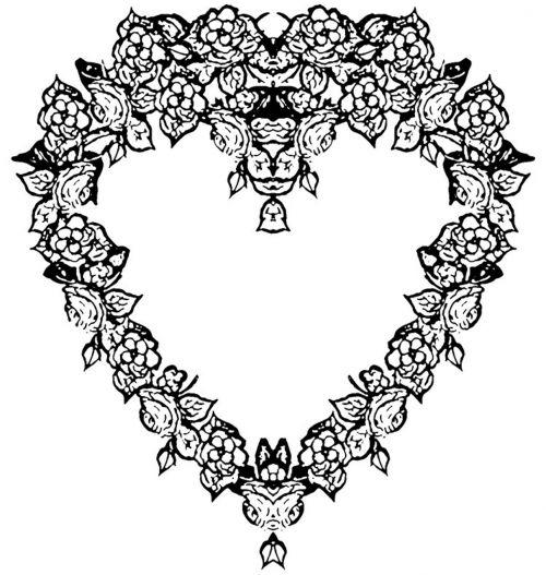 Black And White Heart Frame