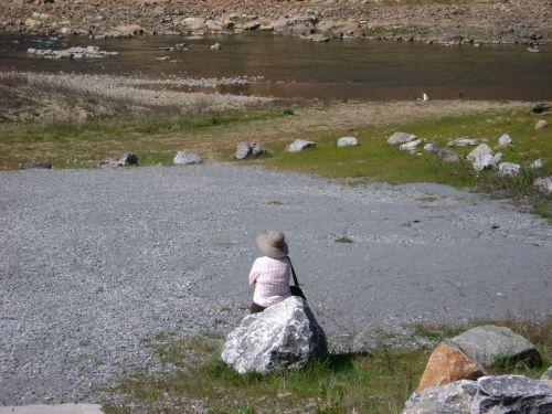 upė, Rokas, skrybėlę, meditacija, upės meditacija