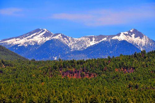 Snowcapped Mountains Flagstaff AZ