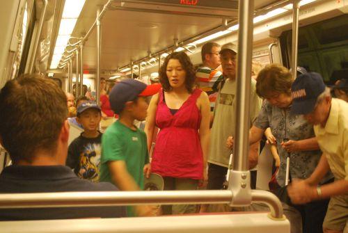 Riding Subway