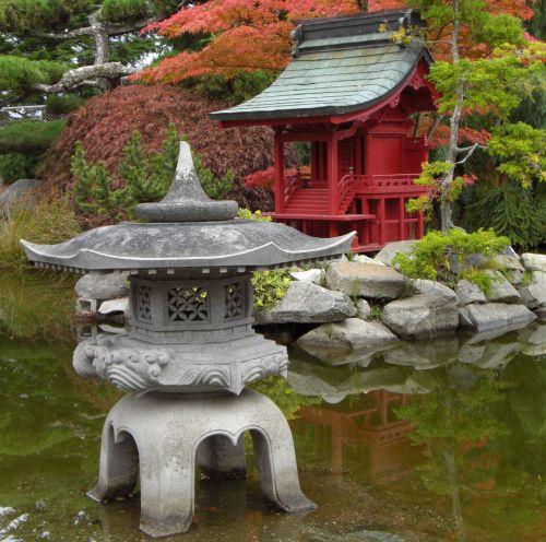 pagoda, miniatiūrinė, Japonija, japanese, vanduo, parkas, vis dar, gyvenimas, pagoda