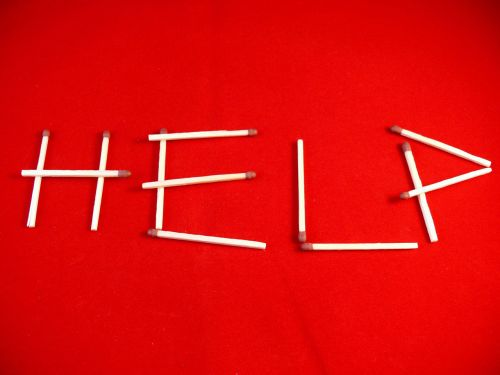 help,matches,redbackround,help