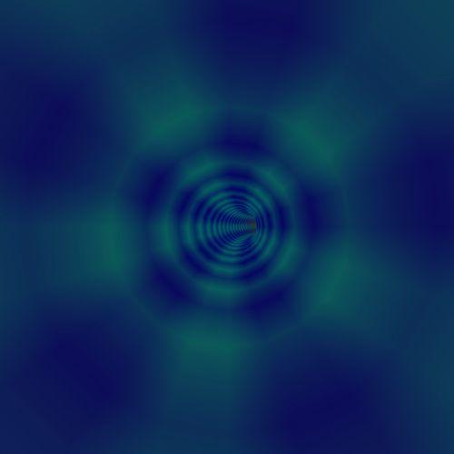 3d Blue Vortex