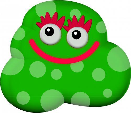 3d Cartoon Green Germ