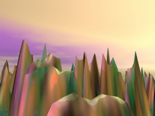 3d Surreal Mountains