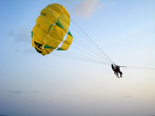 People In Parachute