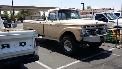 ford, f100, 4x4, sunkvežimis, paimti, paimti, tan, klasikinis, 4x4 f100