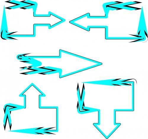 5 Blue Arrows