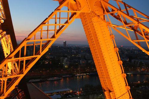 eifelis, bokštas, paris, turizmas, vaizdas, naktis, architektūra, paris nuo eifelio bokšto