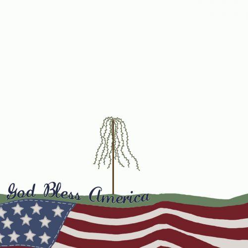 patriotinis, amerikietis, usa, vėliava, pasididžiavimas, 4-as, apie, liepa, vasara, šventė, gluosnis, medis, Šalis, usa, Dieve palaimink Amerika
