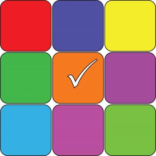 9 Colored Squares