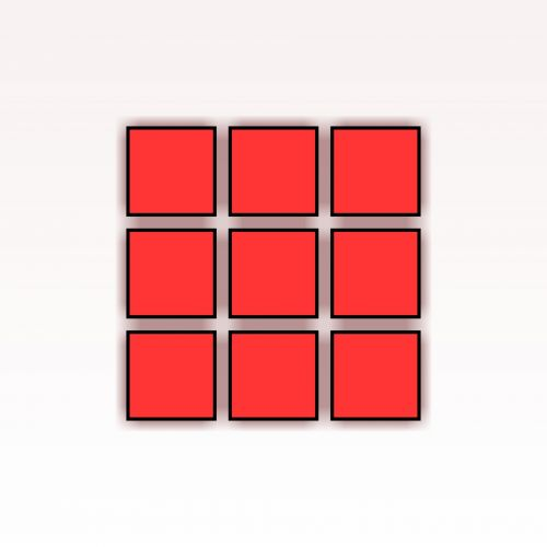 9 Red Squares
