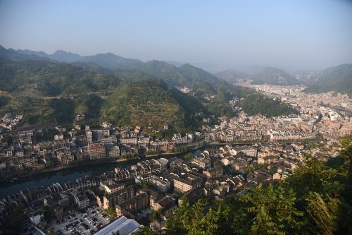 a bird's eye view the ancient town china