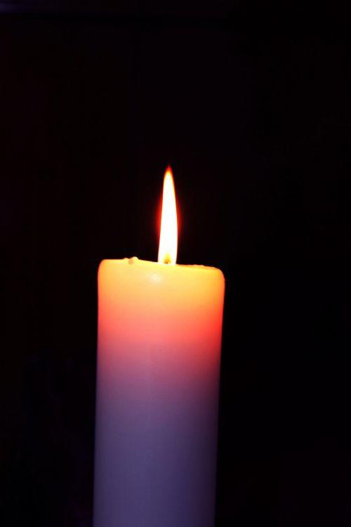 žvakė, šviesa, liepsna, balta & nbsp, žvakė, Ugnis, karštas, viena žvakė, žvakė 2