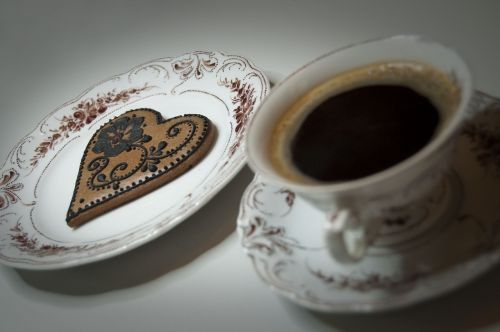a cup of coffee porcelain the cake