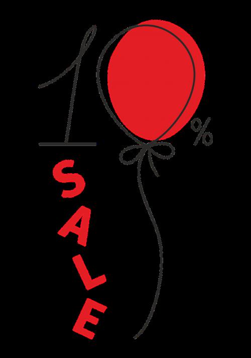 a discount sale balloon