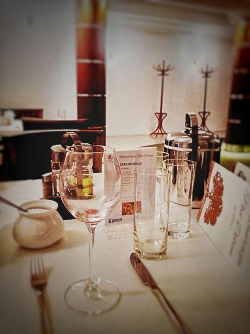 a glass of glass restaurant