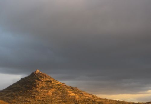 A Hill In The Late Sun