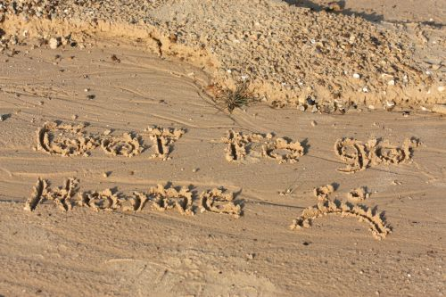 A Note In The Sand