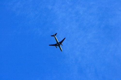 A Passenger Jet Passing