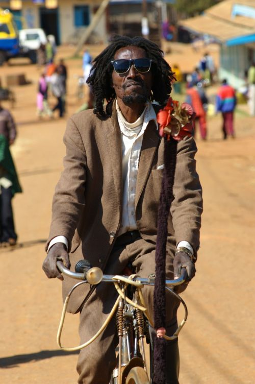 a real dreadlocks bike event the village's main street