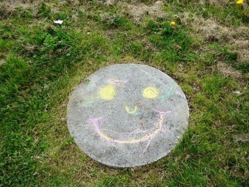 a smile fun chalk