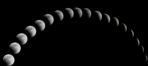 a total solar eclipse the night sky moon