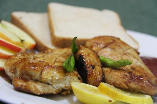 chicken bread meat
