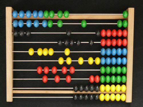 abacus computational aids wooden balls