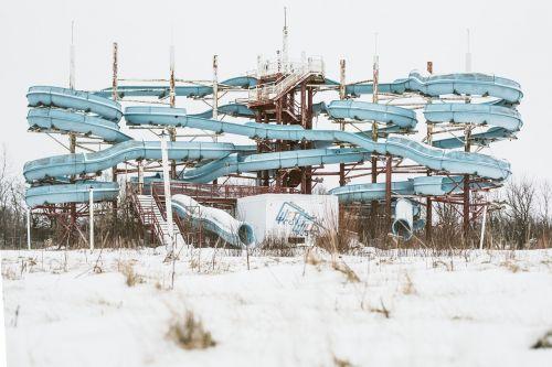 abandoned funfare derelict