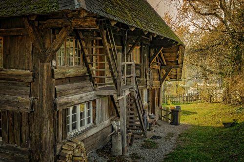 abandoned architecture barn