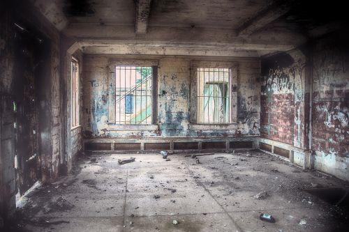 abandoned derelict ruin