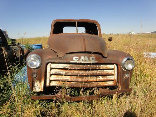 abandoned truck prairie