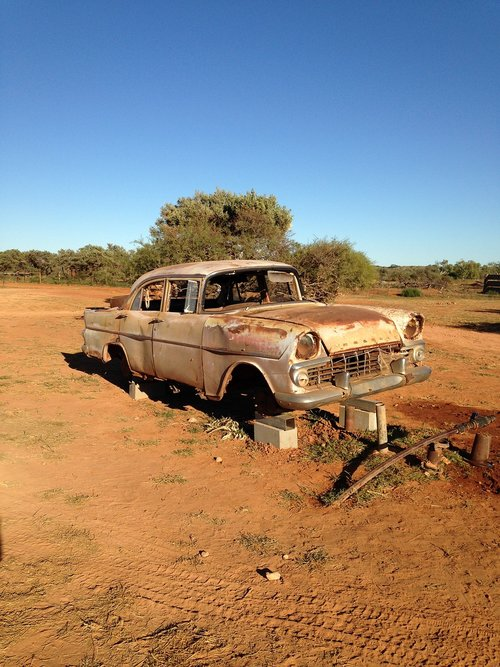 abandoned  rusted  outback