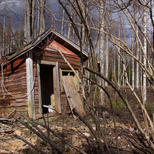 abandoned house sauna