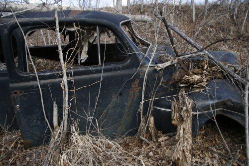 Abandoned Car Wreck Junk