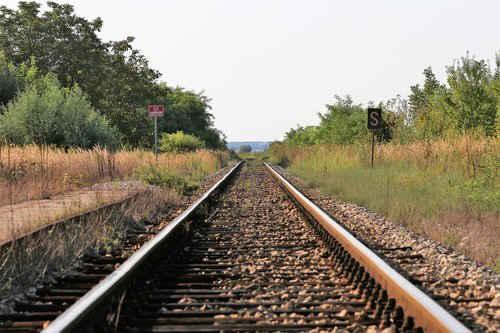 abandoned rail station  rail tracks  railway