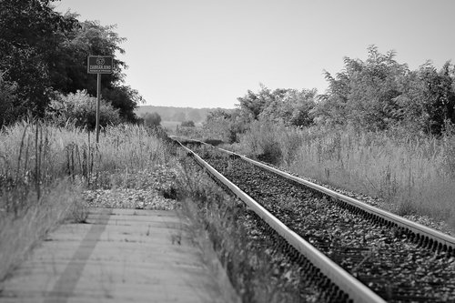 abandoned rail station  rail tracks  railway