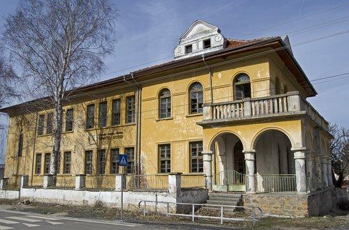 abandoned school  bulgaria  village
