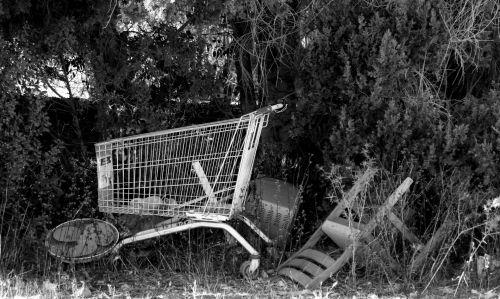 Abandoned Supermarket Trolley